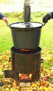 Vedeldad kokgryta 60 liter