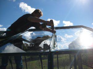 Glasfästning