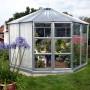11 m² lustväxthus med pardörrar