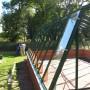 40 m² växthus under montering